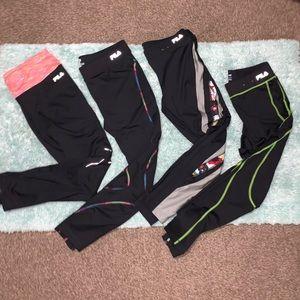 Bundle of 4 Fila running pants